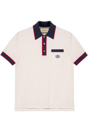Gucci Herren Poloshirts - Poloshirt aus Baumwoll-Piqué mit GG