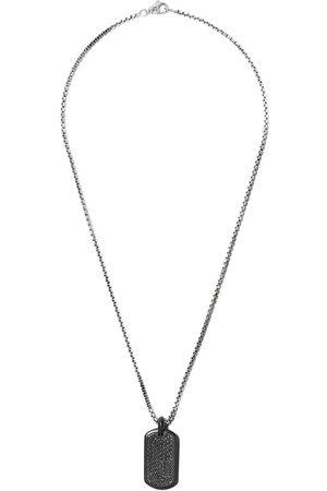 David Yurman Herren Halsketten - Pavé' Anhänger mit schwarzen Diamanten - TBABD