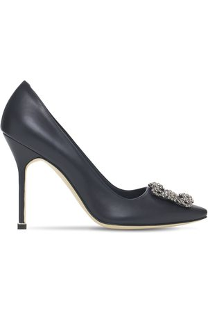 "Manolo Blahnik Damen Pumps - 105mm Hohe Lederpumps ""hangisi"""