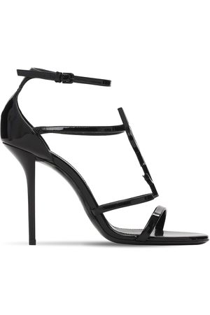 "Saint Laurent Damen Sandalen - 110mm Hohe Sandaletten Aus Lackleder ""cassandra"""