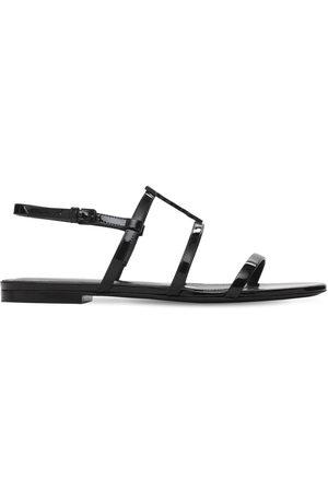 "Saint Laurent Damen Sandalen - 10mm Hohe Sandaletten Aus Lackleder ""cassandra"""
