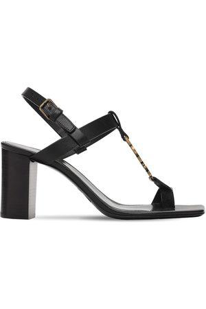 """Saint Laurent Damen Sandalen - 75mm Hohe Sandaletten Aus Leder """"cassandra"""""""