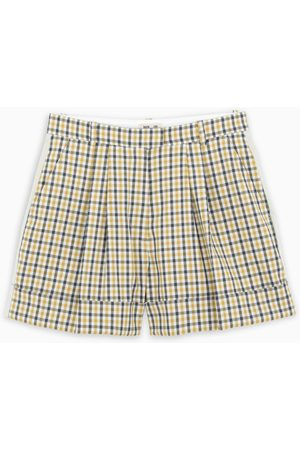 Baum und Pferdgarten Yellow/black checked Nomade shorts