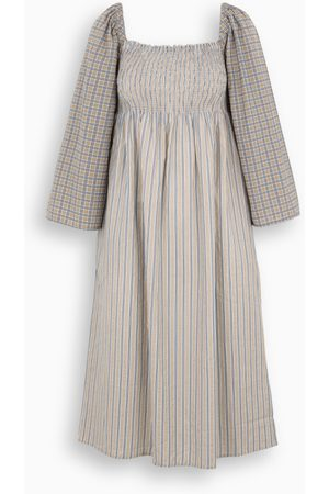 Baum und Pferdgarten Damen Midikleider - Striped and checked Avanee flared dress