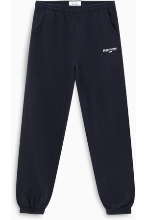 Harmony Blue logoed jogging trousers