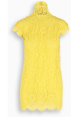 Dsquared2 Damen Kurze Hosen - Yellow lace short dress