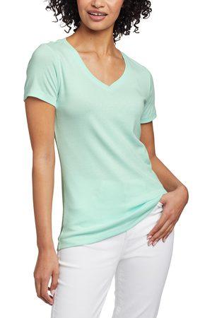 Eddie Bauer Damen T-Shirts - Favorite Shirt - Kurzarm mit V-Ausschnitt Damen Gr. L