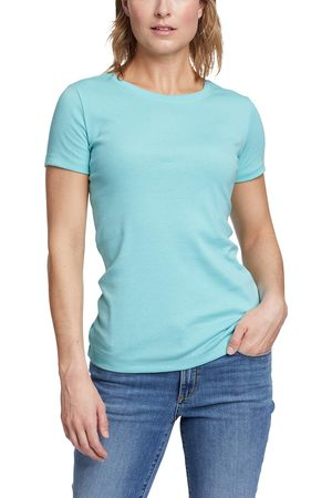 Eddie Bauer Favorite Shirt - Kurzarm mit Rundhalsausschnitt Damen Gr. L