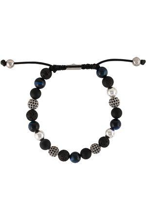 Nialaya Herren Armbänder - Armband mit strukturierten Perlen