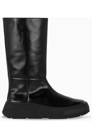 Prada Black brushed leather boots