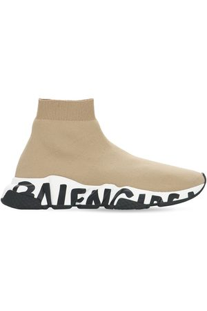 "Balenciaga Damen Sneakers - 30mm Hohe Sneakers ""speed Graffiti"""