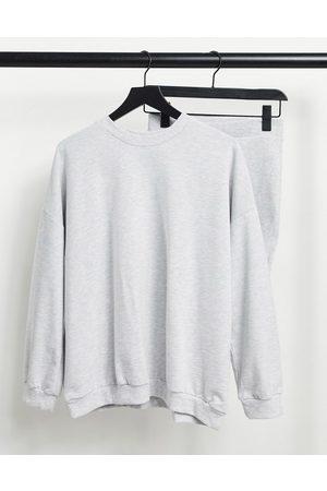 ASOS Hourglass – Trainingsanzug mit Sweatshirt / gerippter Legging-Shorts
