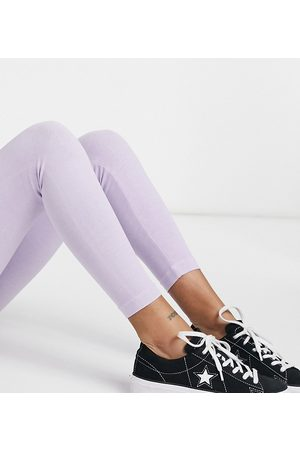 Topshop – Leggings mit Acid-Waschung in Lila