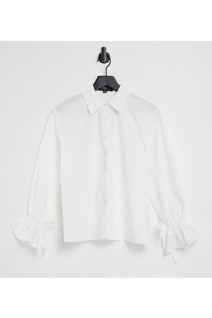 Outrageous Fortune – Exklusives Oversize-Hemd aus Popeline mit Bindebändern an den Bündchen in