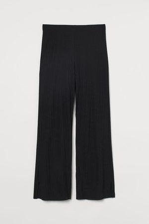 H&M Damen Jogginghosen - Gerippte Jerseyhose