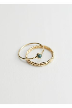 & OTHER STORIES Twist Embossed Ring Set