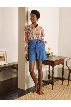 Boden Elgin Paperbag-Shorts BLU Damen