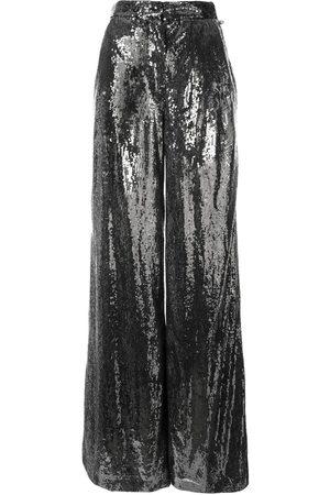 Ingie Paris Damen Weite Hosen - Weite Hose mit Pailletten