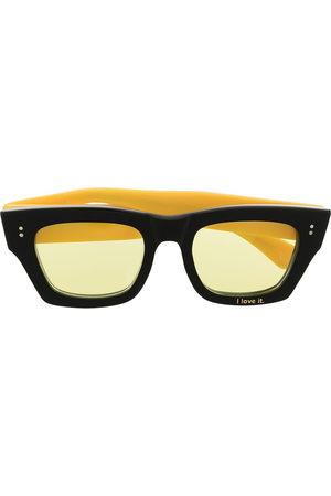 DUOltd Herren Sonnenbrillen - Sonnenbrille mit eckigem Gestell