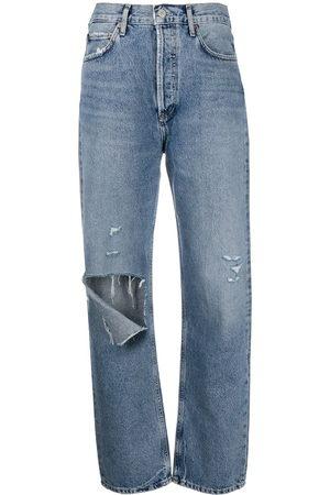 AGOLDE Damen Baggy & Boyfriend - Boyfriend-Jeans in Destroyed-Optik