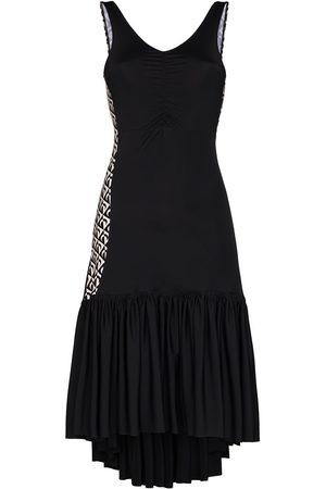 Marine Serre Damen Freizeitkleider - Futurist Flamenco Kleid mit V-Ausschnitt