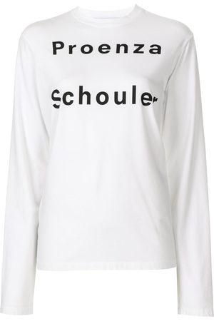 PROENZA SCHOULER WHITE LABEL Damen Longsleeves - Langarmshirt mit Logo