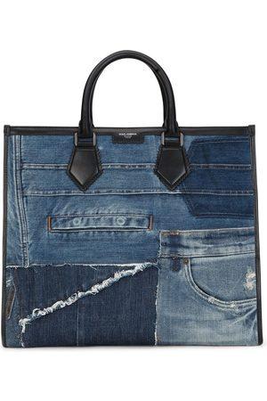 Dolce & Gabbana Jeans-Shopper im Patchwork-Design