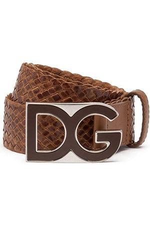 Dolce & Gabbana Herren Gürtel - Gewebter Gürtel mit Logo-Schild