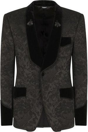 Dolce & Gabbana Herren Blazer & Sakkos - Geblümtes Jacquard-Sakko