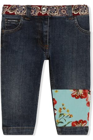 Dolce & Gabbana Skinny-Jeans mit Patchwork-Detail