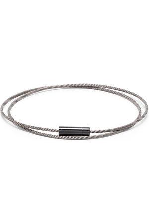 Le Gramme 11g brushed triple cable bracelet