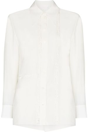 Chloé Floral lace pointed collar blouse