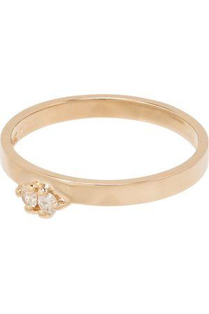 WWAKE 14kt Gelbgoldring mit Diamanten