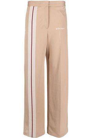 Palm Angels Damen Weite Hosen - Hose mit seitlichen Streifen - Nude