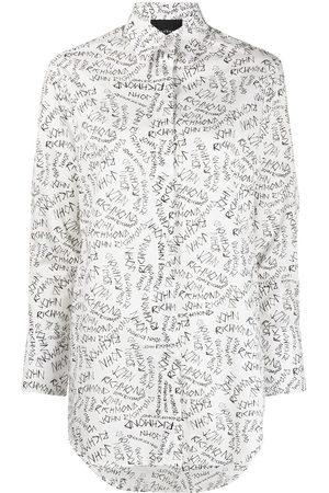 John Richmond Damen Longsleeves - Langarmshirt mit Logo-Print