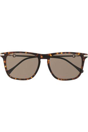 Gucci Sonnenbrille mit eckigem Gestell