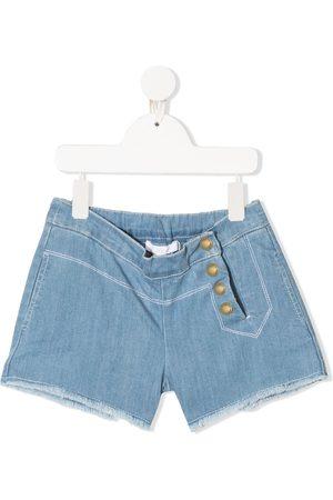 Chloé Mädchen Shorts - Jeans-Shorts mit seitlichen Knöpfen