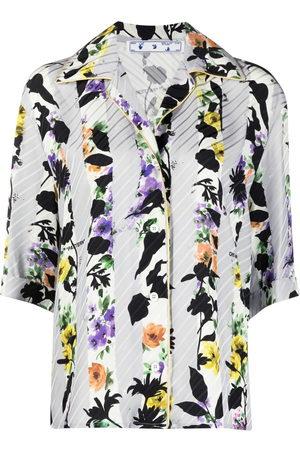 OFF-WHITE Damen Blusen - Hemd mit floralem Print