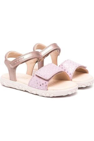 Geox Mädchen Sandalen - Haiti metallic polka-dot sandals