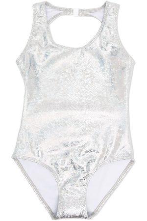 Le pandorine Mädchen Badeanzüge - Rückenfreier Metallic-Badeanzug