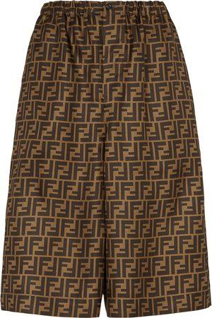 Fendi Damen Shorts - Knielange Shorts mit Logo-Print