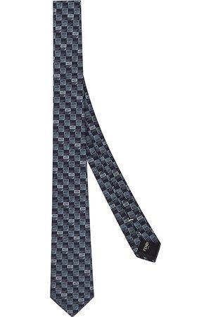 Fendi Krawatte mit kleinem Logo-Print