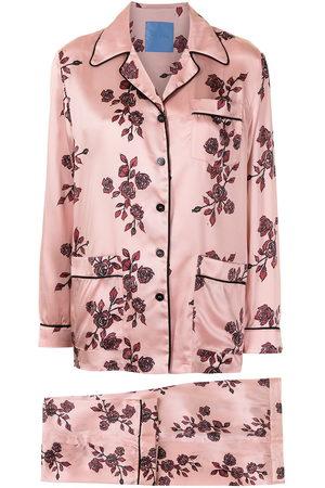 Macgraw Seiden-Pyjama mit Print