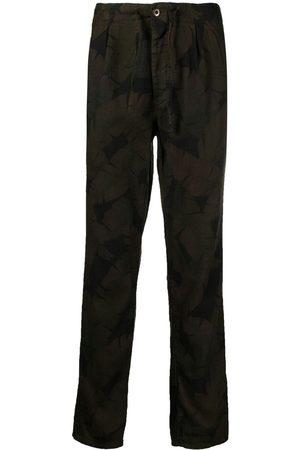 Incotex Herren Slim & Skinny Hosen - Karottenhose mit Blatt-Print