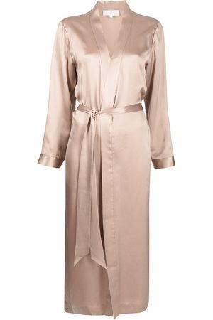 Michelle Mason Damen Kleider - Silk side-slit robe