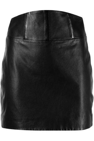 Michelle Mason Damen Bleistiftröcke - Minirock aus Leder