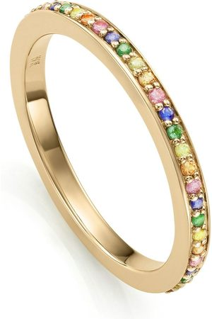 Monica Vinader Damen Ringe - Eternity Ring mit Saphiren