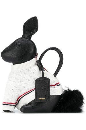 Thom Browne Herren Strickpullover - Rabbit' Handtasche mit Strickpullover