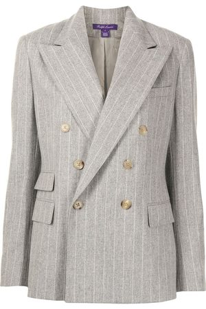 Ralph Lauren Damen Blazer & Sakkos - Astor double-breasted blazer - PEARL GREY MELANGE