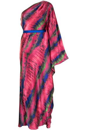 Semsem Damen Asymmetrische Kleider - Drapierte One-Shoulder-Robe